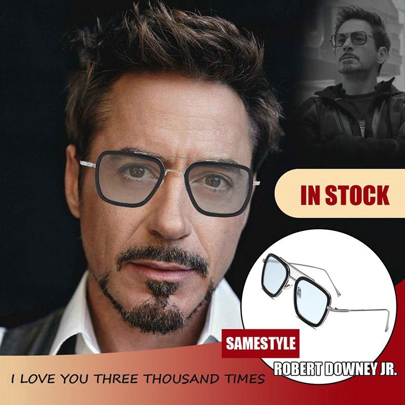 Kính mát theo phong cách Tony Stark Iron Man cổ điển punk thời trang