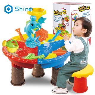 1 Set Children Beach Table Sand Play Toys Set Baby Water Sand Dredging Tools Color Randomshin3