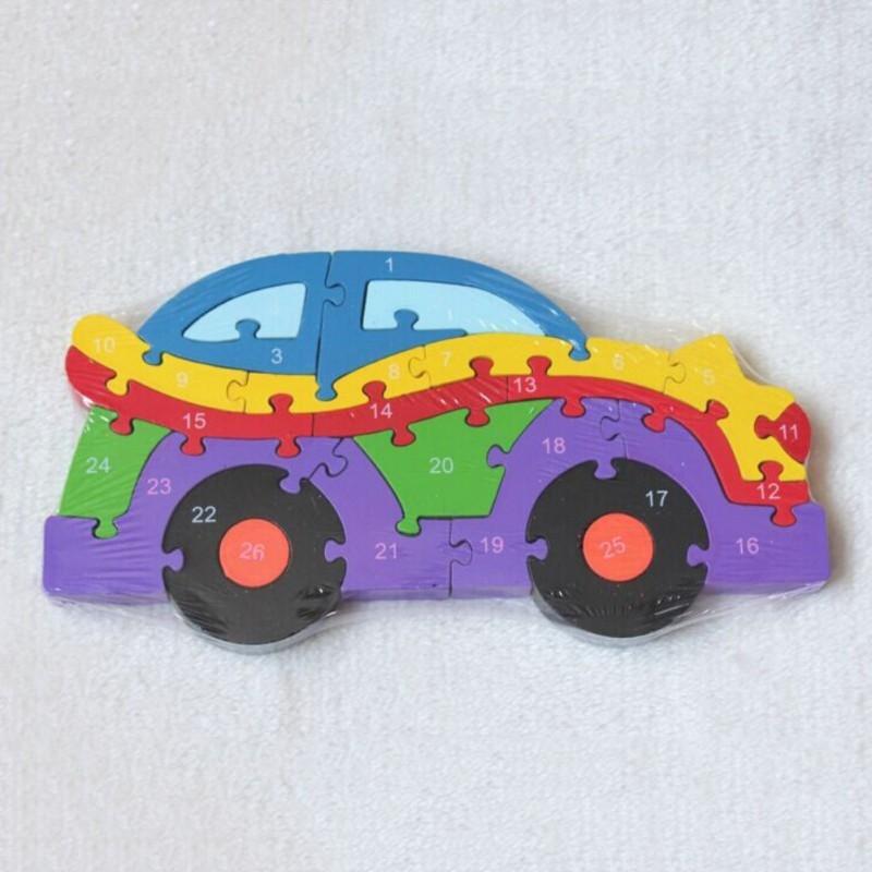 BOBORA 3D Children's Car Assembled Building Wooden Educational Toys