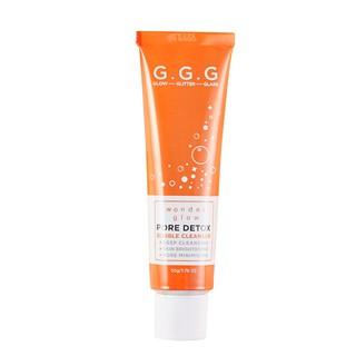 Sữa Rửa Mặt Sủi Bọt Oxy Sáng da, Sạch mụn đầu đen G.G.G Wonder Glow Pore Detox Bubble Cleanser 50gr