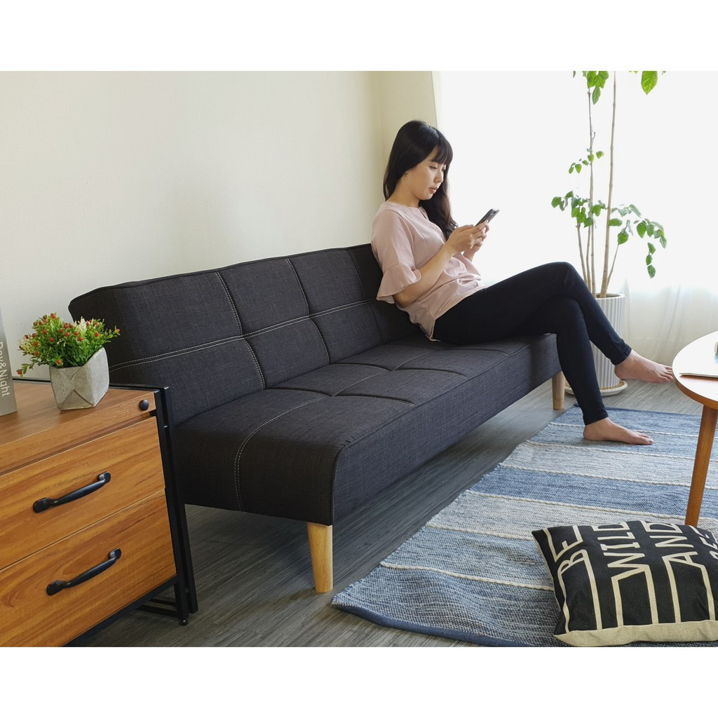 Ghế sofa giường đa năng BNS 2021 màu xám đen)170*86*35)