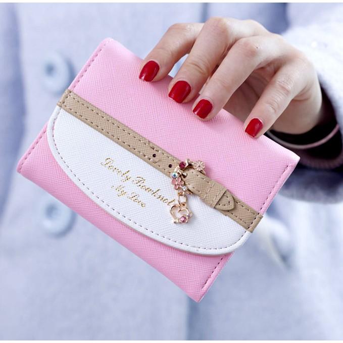 Ví nữ mini nhỏ xinh màu hồng - V6 - 2664297 , 260598255 , 322_260598255 , 160000 , Vi-nu-mini-nho-xinh-mau-hong-V6-322_260598255 , shopee.vn , Ví nữ mini nhỏ xinh màu hồng - V6
