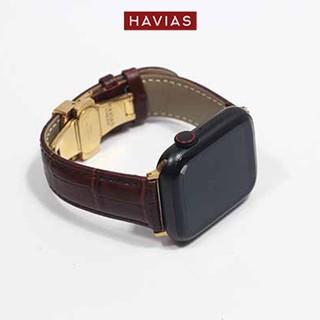 Dây đồng hồ Apple Watch HAVIAS Lux8 - Dây Nâu (Brown)