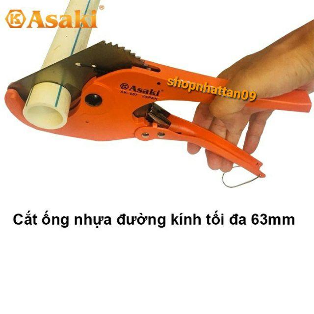 Kéo Cắt Ống Nhựa Pvc, Ppr, Pe 63Mm Asaki Ak-0087 (Loại Lớn) Kéo Cắt Ống Nhiệt