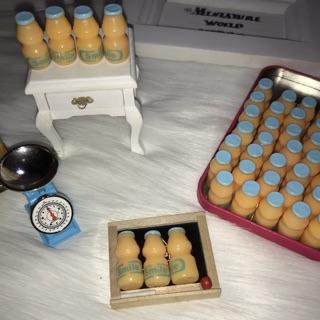 Chai sữa chua uống cực xinh, mô hình chai sữa chua trang trí nhà búp bê, chai sữa chưa mini