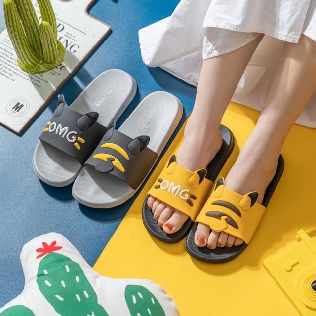 Dép quai ngang Cao Su Unisex Pikapi thời trang nam nữ Hot Trend 2020