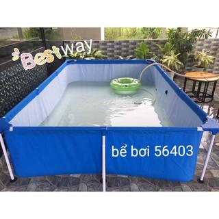 Bể bơi khung kim loại 259x170x61cm 56403