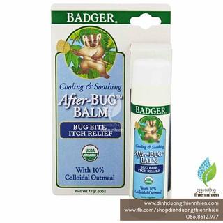Sáp Bôi Hữu Cơ Giảm Ngứa Badger, Dùng Khi Bị Côn Trùng Cắn Badger After Bug Balm, 17g