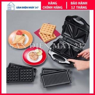 [Bảo hành 12 tháng] Máy nướng bánh mỳ sandwich Tiross 3 trong 1 TS513 (Hàng cao cấp) – Kẹp nướng bánh mì
