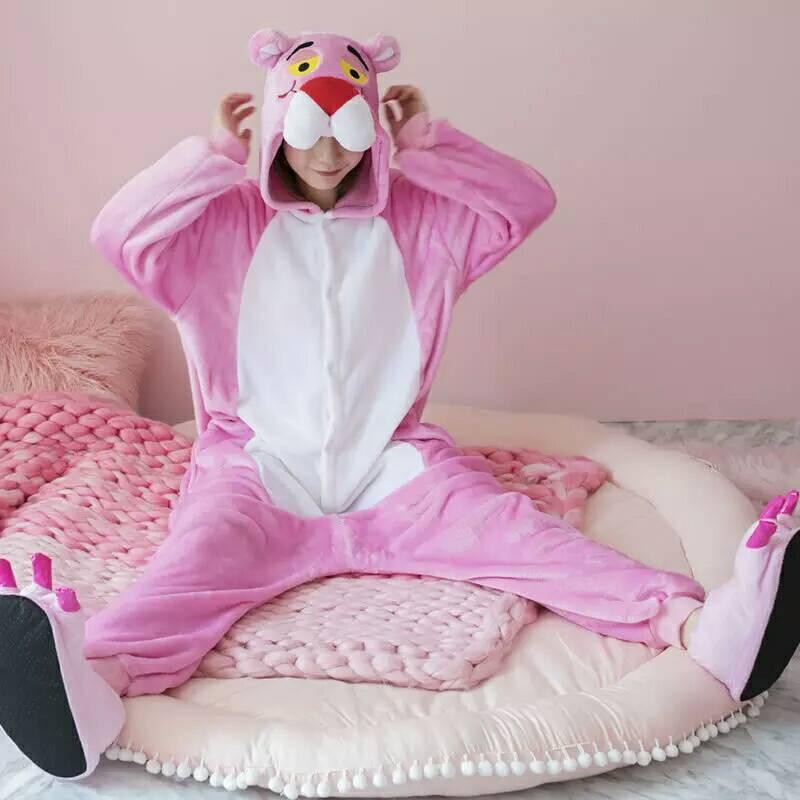 Bộ pijama hóa trang chú báo hồng dành cho người lớn vui chơi Halloween