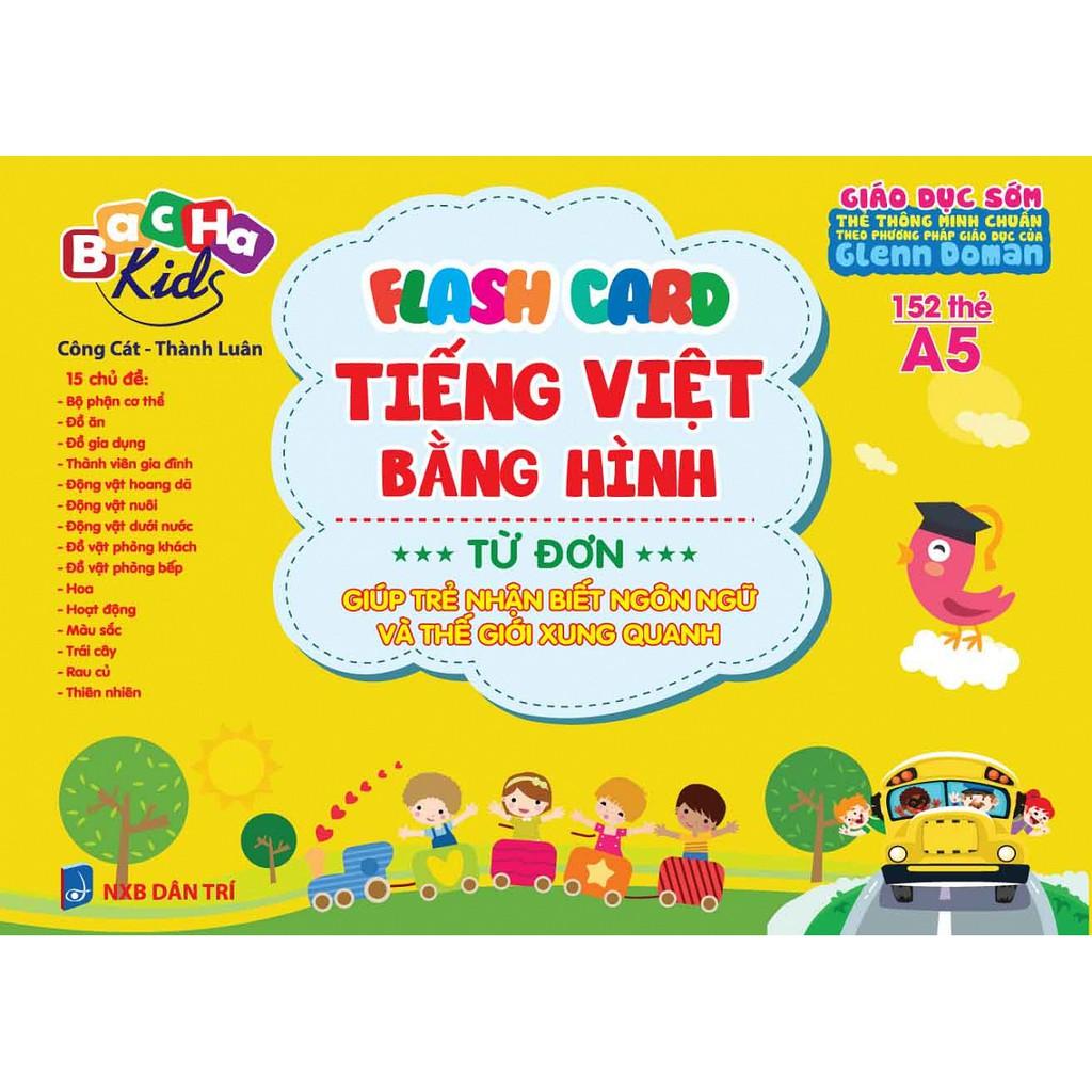 Thẻ học - Flashcard Tiếng Việt Bằng Hình - Từ Đơn (Dạy Trẻ Theo Phương Pháp Glenn Doman)