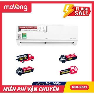 [Mã ELHAXU12 hoàn tối đa 1 triệu xu] [MIỄN PHÍ CÔNG LẮP ĐẶT] (giao HCM) Máy lạnh LG Inverter 1 HP V10ENW