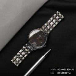 [CHÍNH HÃNG NHẬT BẢN] Đồng Hồ Nam SUNRISE SRWATCH SG10051.1101PL Đen Kính Sapphire Chống xước - Bảo Hành 12 Tháng