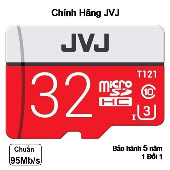 Thẻ nhớ 32Gb JVJ Pro U3 Class 10 – chuyên dụng cho CAMERA tốc độ cao