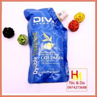 Hấp tóc phục hồi tóc Collagen DIVA 500ml chính hãng thumbnail
