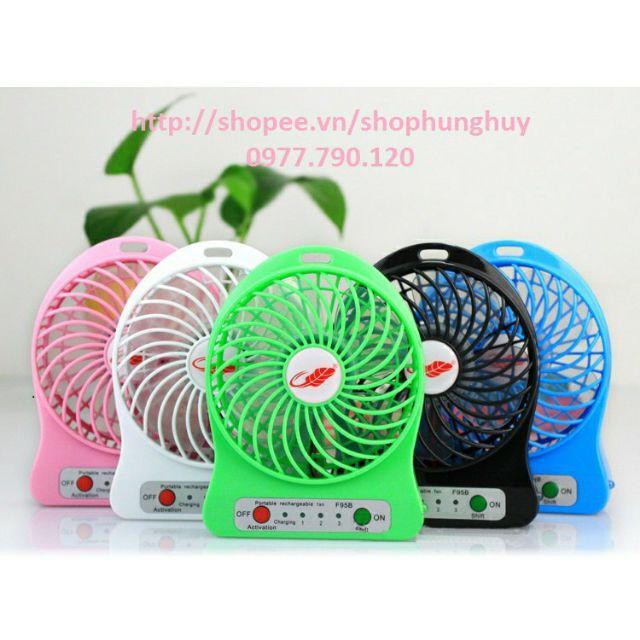 Quạt tích điện USB mini Fan - 3 tốc độ