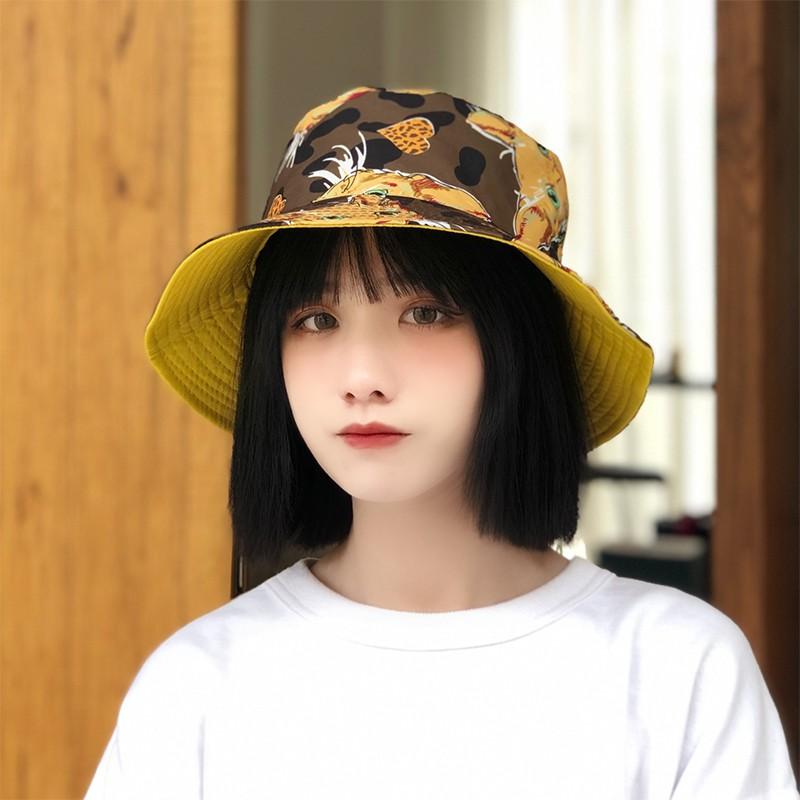 หมวกชาวประมงสองด้านสไตล์เกาหลี