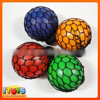 Bóng Lưới Bóp Mesh Squishy Ball Xả Stress – lưới màu đen – 4 màu – ITOYS (xả bán)