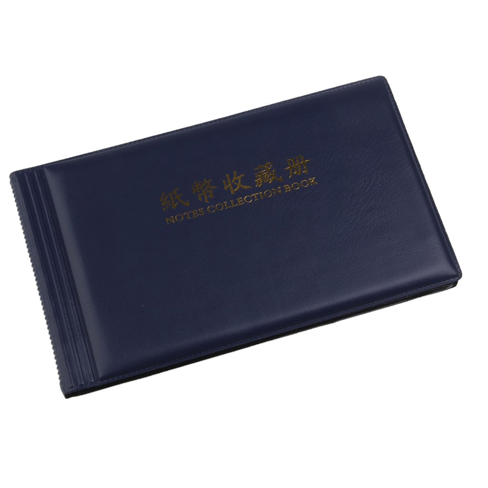 20 Pockets Soft Leather Banknote Collection Protection DIY Storage Home Paper Money Album