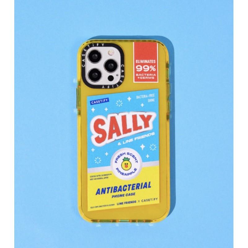 Ốp lưng LINE FRIENDS X CASETiFY viền chống sốc impact | Sally's Antibacterial iPhone case (chính hãng)