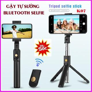 Gậy Chụp Hình Selfie Chuyên Nghiệp K07 kiêm giá đỡ điện thoại cao cấp Gậy chụp ảnh Bluetooth Selfie K07Gậy chụp hình thumbnail