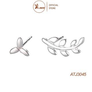 Bông tai bạc 925 Kiểu Dáng Chiếc Lá Phong Cách Thời Trang Hàn Quốc, ANTA Jewelry - ATJ3045