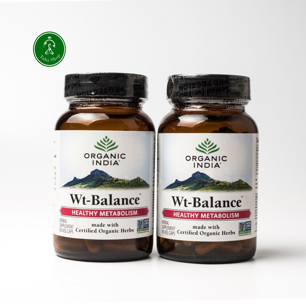 Combo Viên Uống Weight Balane hỗ trợ giảm cân Organic India ( 1 lọ 90 viên)