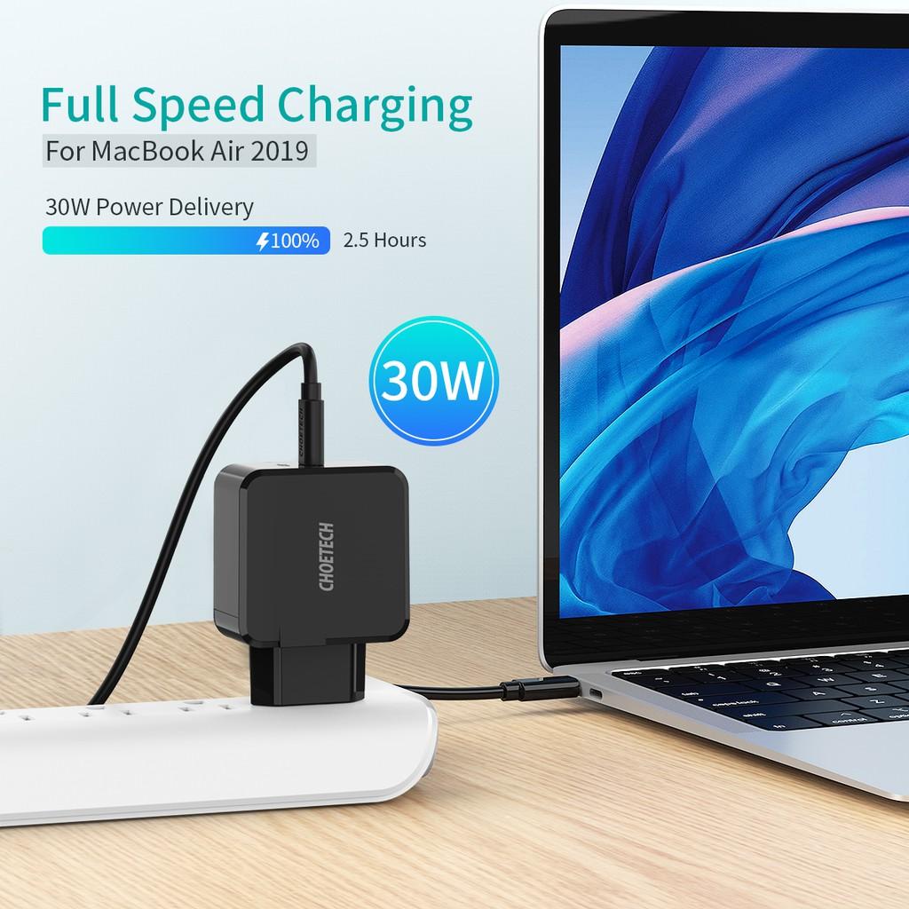 Cốc Sạc CHOETECH USB C 30W Dành Cho Iphone 11/Samsung