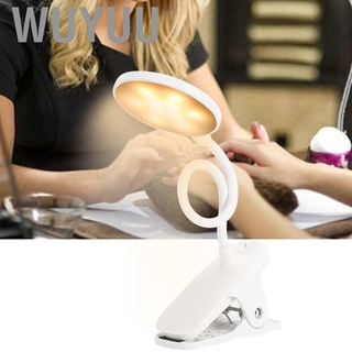 Wuyuu Beauty Lamp Adjustable Lamps LED Clip Light USB Dimmable Flexible Desk with 3 Lighting Modes and Brightness Levels for Study Tattoo Manicure