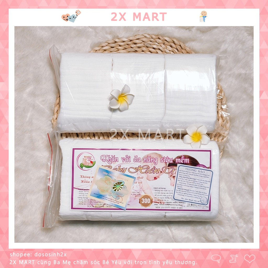 (CHÍNH HÃNG) Khăn vải khô đa năng Baby Hiền Trang cho mẹ và bé hoặc tẩy trang - 2X MART