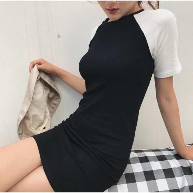 Váy body tay ngắn trắng đen - 14769379 , 2121964586 , 322_2121964586 , 90000 , Vay-body-tay-ngan-trang-den-322_2121964586 , shopee.vn , Váy body tay ngắn trắng đen