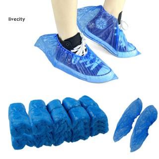 Bộ 100 Bao Bọc Giày Bằng Nhựa Chống Trượt