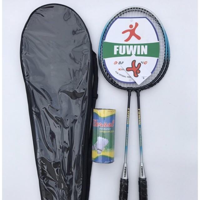 Vợt cầu lông FUWIN bao kính ( tặng kèm hộp quả cầu lông )