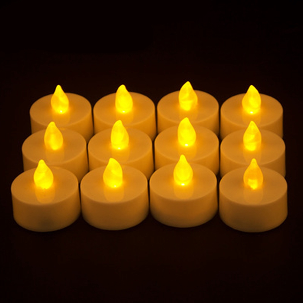 Frameless Flickering Festival Safe Tea Light Realistic Candle Lamp Led Battery Operated Bright Party