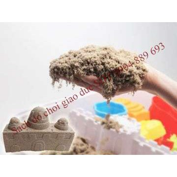 Bộ 1kg cát động học Kinetic Sand wabafun kèm đồ chơi