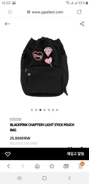 BLACKPINK Lightstick Pouch (có sẵn)