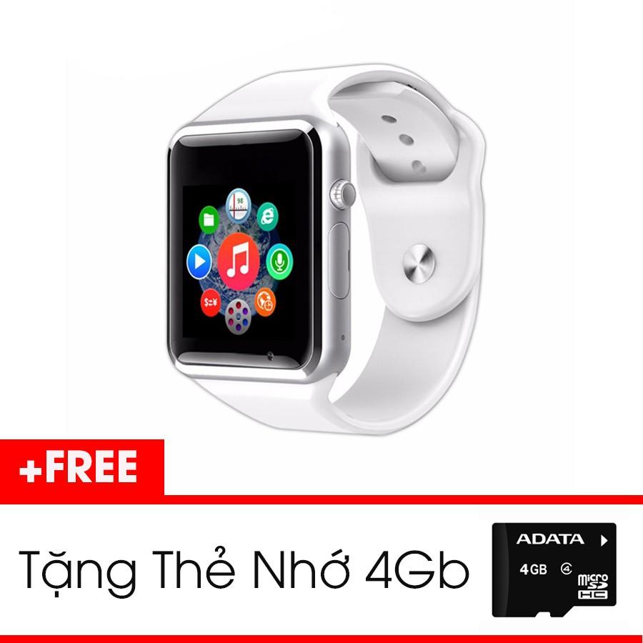 [Siêu Hot] Set Đồng Hồ Thông Minh Smartwatch màu Trắng + Thẻ Nhớ 4Gb