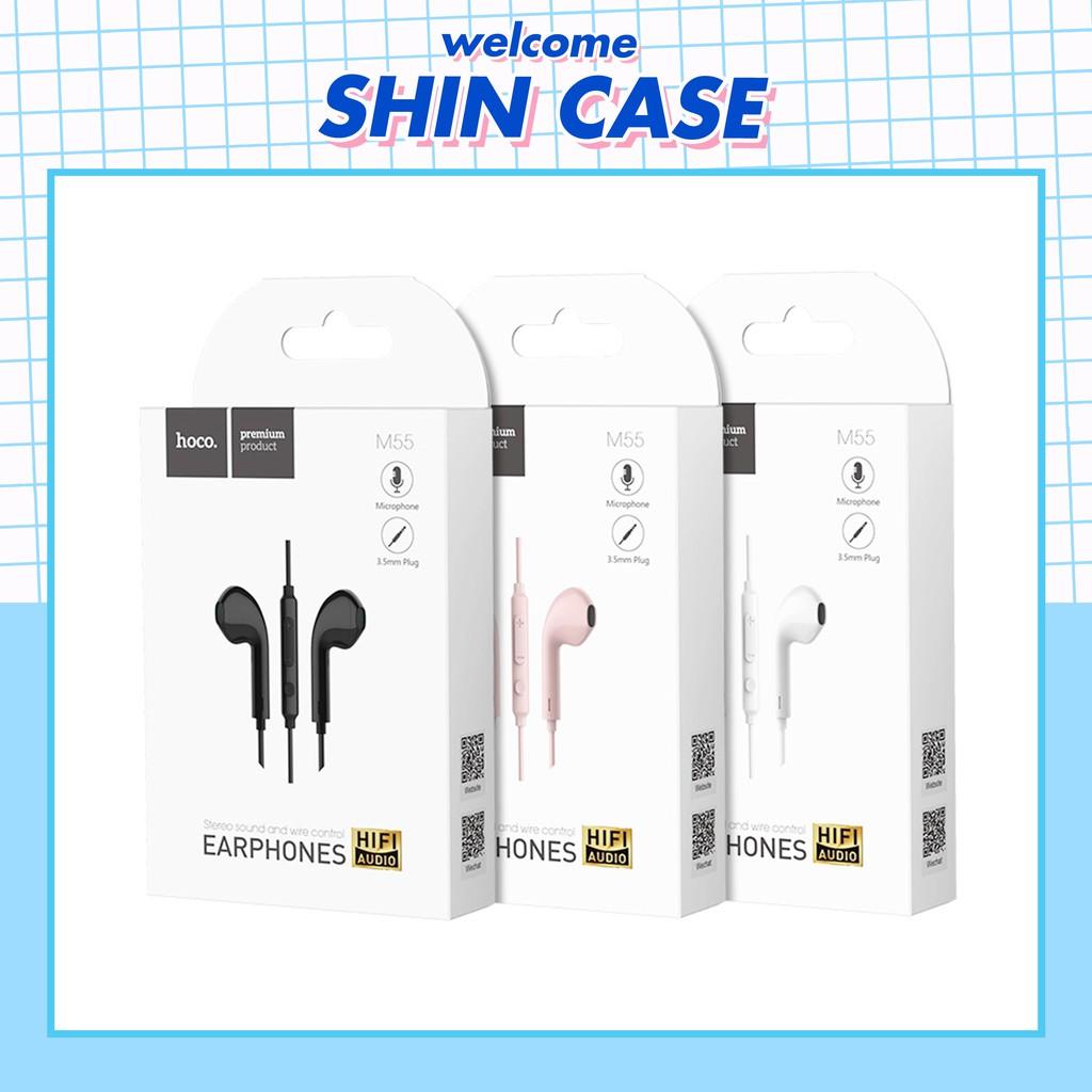 Tai nghe có dây chính hãng Hoco M55 Memory sound cho đt tai nghe bluetooth airpods cáp sạc iphone jack 3.5 - Shin Case
