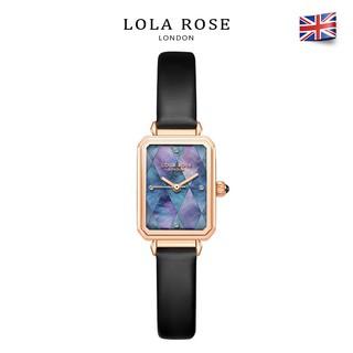 Đồng hồ nữ đẹp sang trọng Lolarose mặt xà cừ tím xanh quyến rũ độc đáo dây đeo mềm m thumbnail