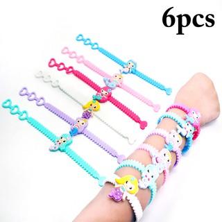 6PCS Christmas Bracelet Heart Adjustable Wrist Bracelet Party Bracelet for Kids
