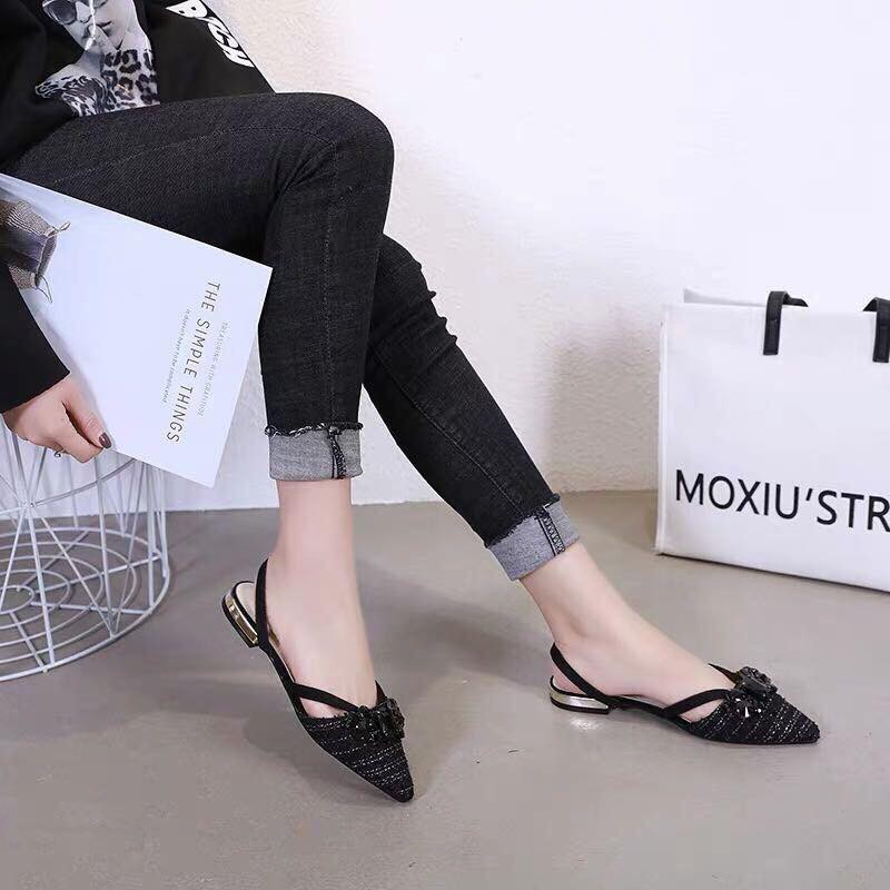 Sandal gót vuông 3p hang ca