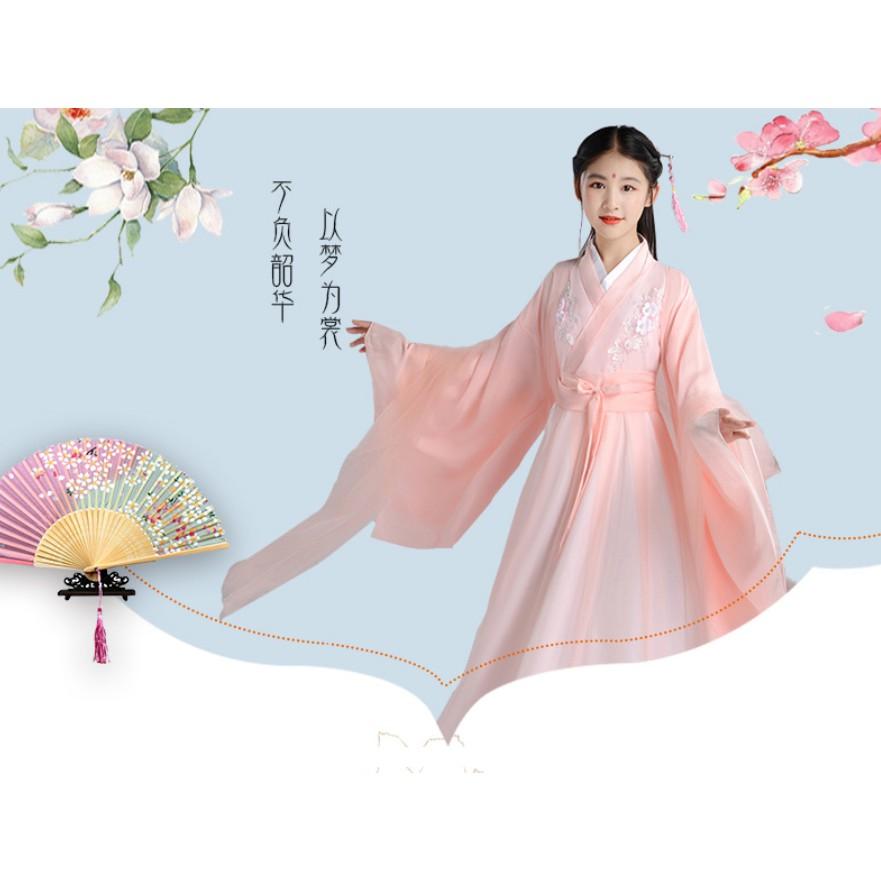 Váy Cổ Trang Trung Quốc Cho Bé Gái - Váy Công Chúa Siêu Xinh Cho Bé Có Đầy Đủ các Size Cho Người Lớn