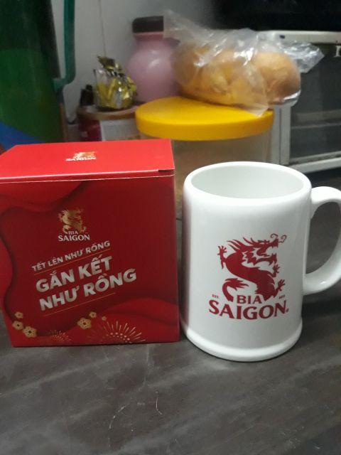 Ly bia Sài Gòn size đại siêu dày. Hàng sứ Minh Long