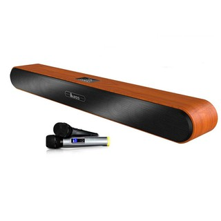 loa thanh tivi loa soundbar karaoke gồm 2 micro UHF D9100K ( hàng nhập khẩu )