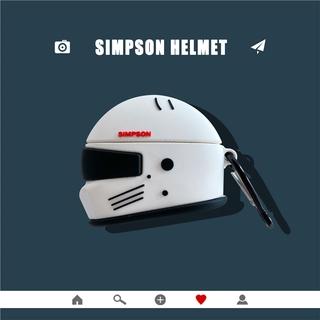Vỏ Đựng Bảo Vệ Hộp Sạc Tai Nghe Airpods 1 / 2 Hình Mũ Bảo Hiểm Bằng Silicone