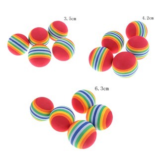 ♑BEW♑ Cute 5PCS Rainbow Color EVA Material Ball 3.5cm Kid Funny Toy Foam Sponge Balls [OL]
