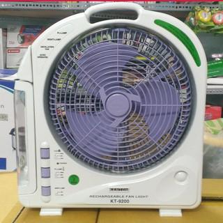 Quạt sạc điện kết hợp đèn Kentom KT-9200 - 2 Bình