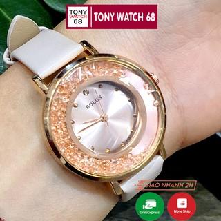 Đồng hồ nữ Bolun đẹp chính hãng dây da chống nước 3ATM Winsley thumbnail