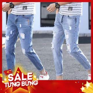 quần jean nam xước 2 màu đậm – nhạt ( 1500-1900) cao cấp -Hàng nhập khẩu