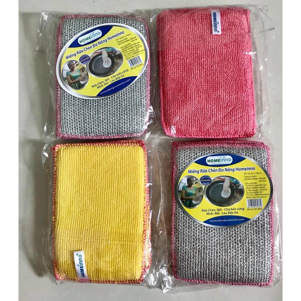 Combo 4 Miếng Rửa Chén Đa Năng Homeinno (gói 2 miếng)